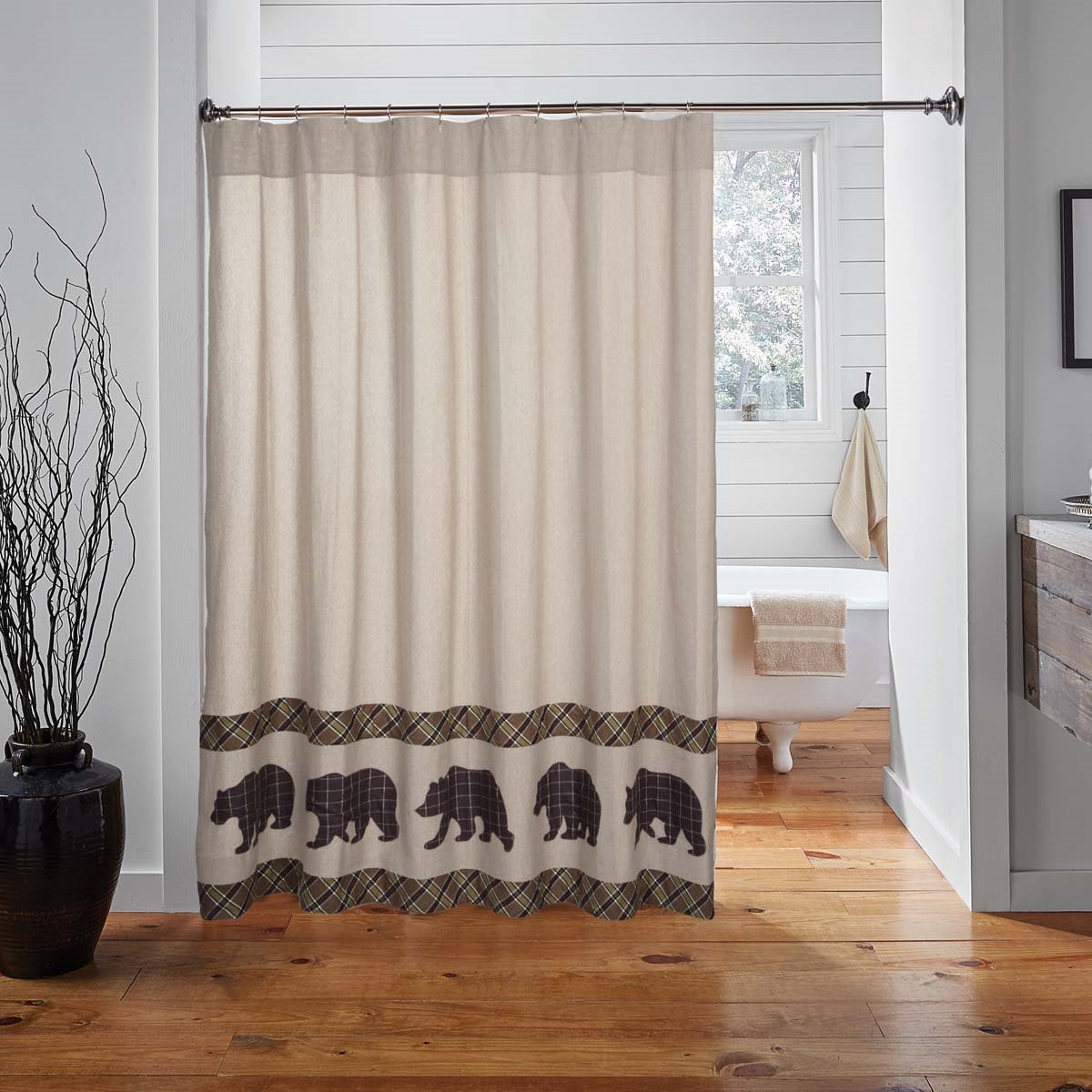 Wyatt Bear Shower Curtain By Vhc Brands P C Fallon Co