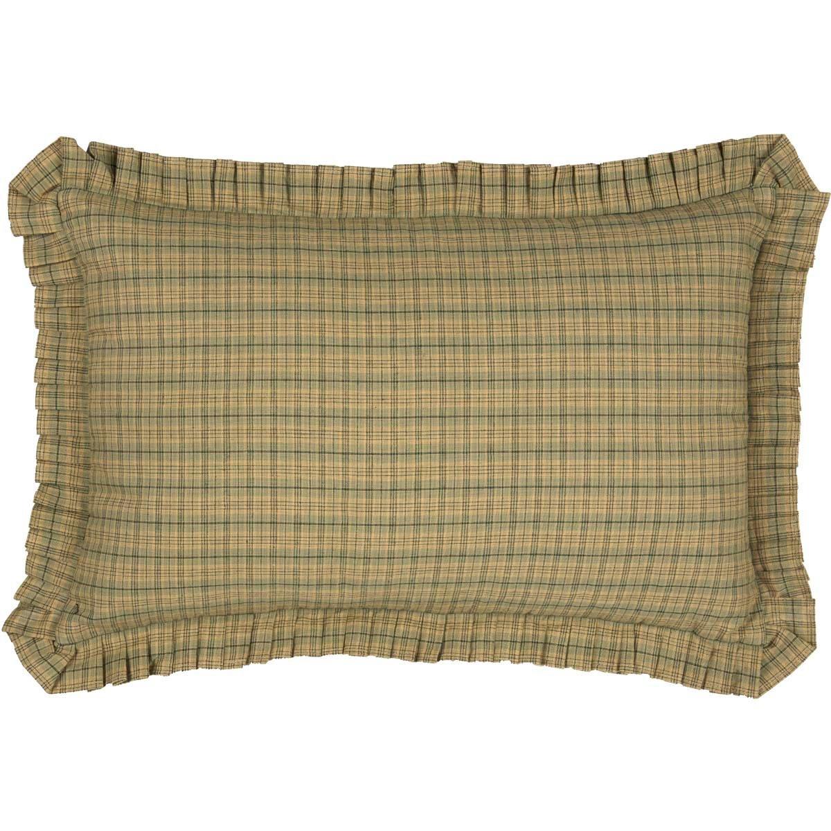 Tea Star Plaid Pillow