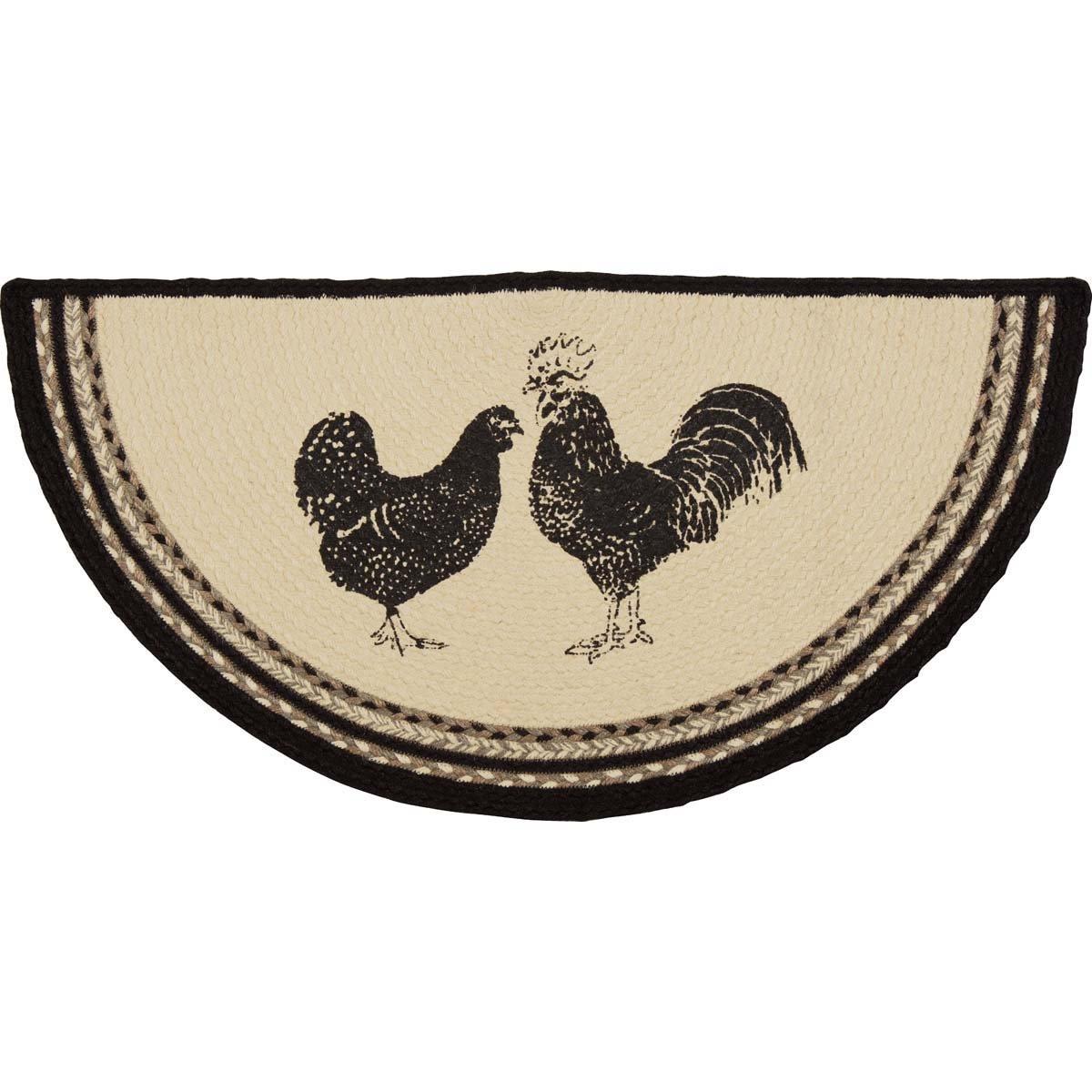 Sawyer Mill Poultry Jute Rug Half Circle (16.5x33)