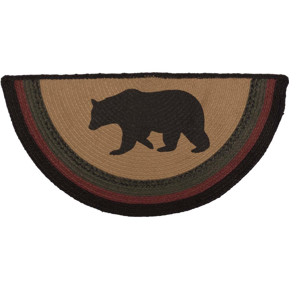 Wyatt Bear Jute Rug Half Circle (16.5x33)