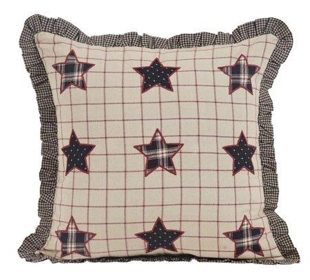 "Bingham Star 16"" Fabric Applique Star Pillow"