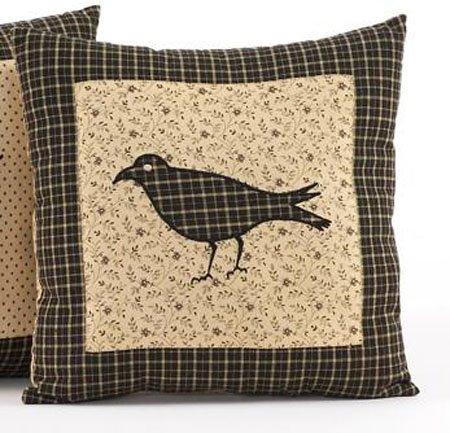 "Kettle Grove 10"" Crow Pillow"