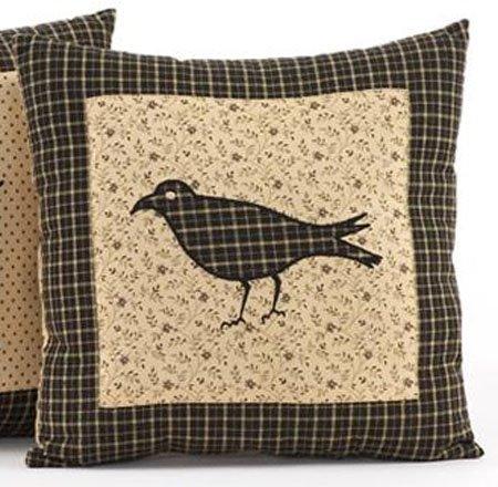 "Kettle Grove 16"" Crow Pillow"