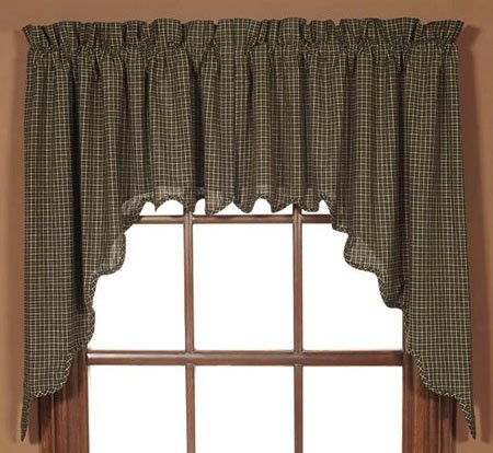 """Kettle Grove 36"""" Plaid Scalloped Swags"""