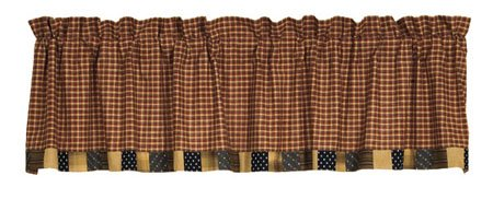 Patriotic Patch Unlined Block Border Valance