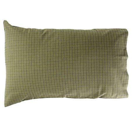Tea Cabin Green Plaid Pillow Cases