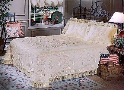 George Washington Bedspread Queen Antique
