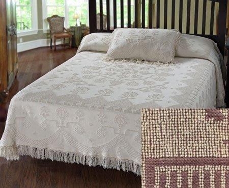 George Washington Bedspread Twin Maroon