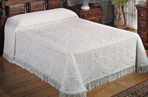 George Washington Bedspread King White