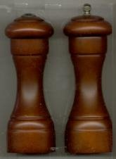 Roosevelt Style Walnut Pepper Mill and Salt Shaker Set (7 in.)