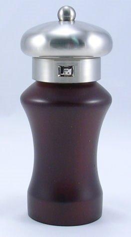 Klios Elite Espresso Wood/Brushed Metal Pepper Mill (6.5 in.)