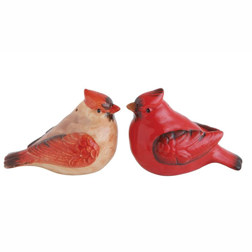 Ceramic Cardinals Salt & Pepper Set