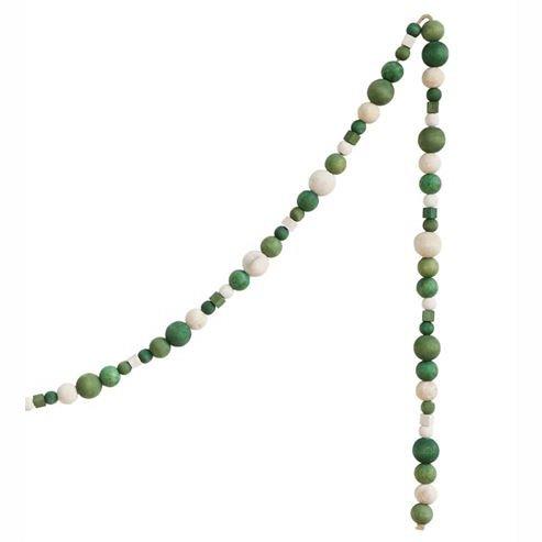"""Green Assorted Wooden Bead Garland 72"""""""