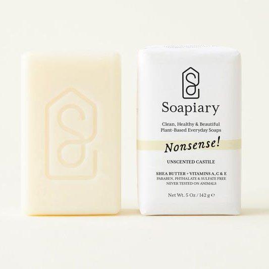 Soapiary Nonsense! Unscented Castile Soap 5 oz Thumbnail