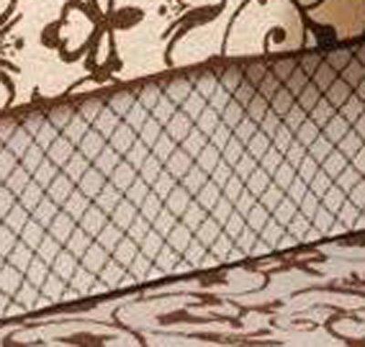 Brown Lattice King Bedskirt Thumbnail