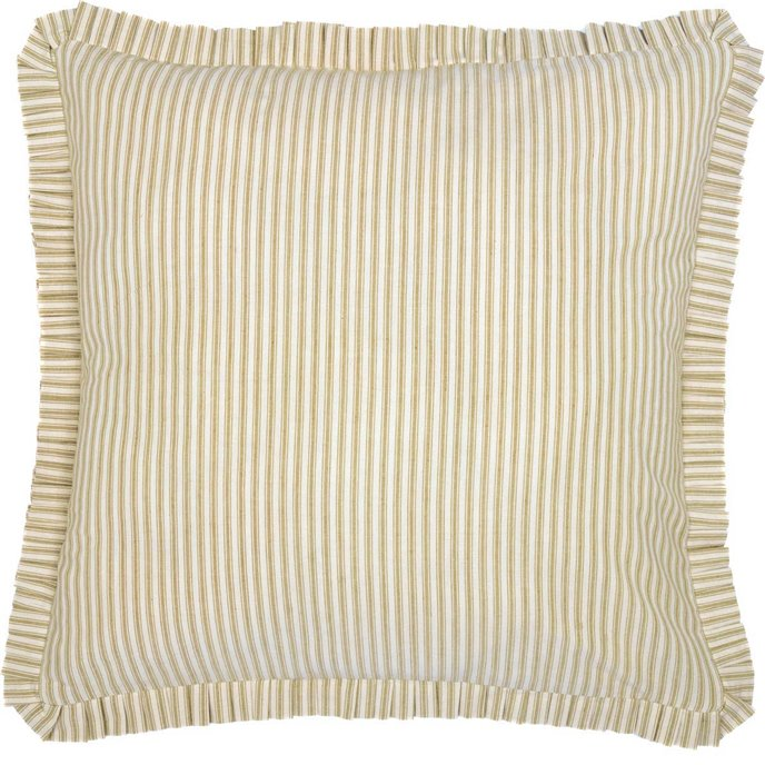 Joanna Ticking Stripe Fabric Euro Sham 26x26 Thumbnail