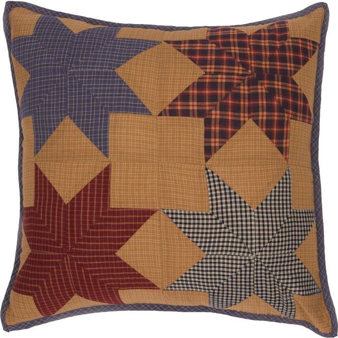 Kindred Star Patchwork Pillow 18x18 Thumbnail