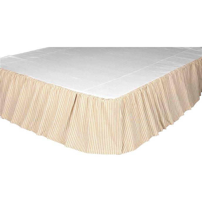 Joanna Ticking Stripe King Bed Skirt 78x80x16 Thumbnail