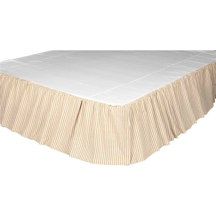 Joanna Ticking Stripe Twin Bed Skirt 39x76x16 Thumbnail