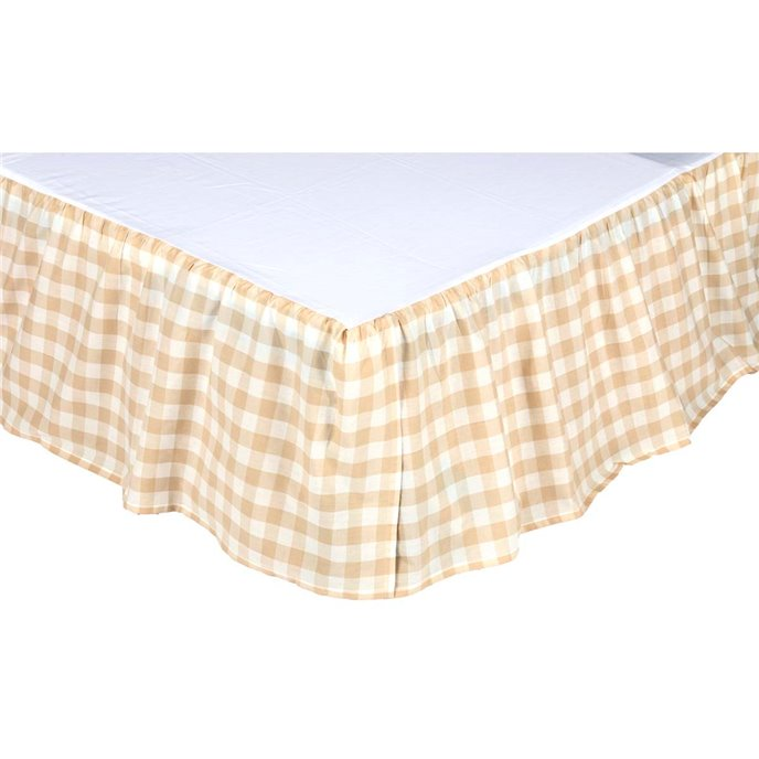 Annie Buffalo Tan Check King Bed Skirt 78x80x16 Thumbnail