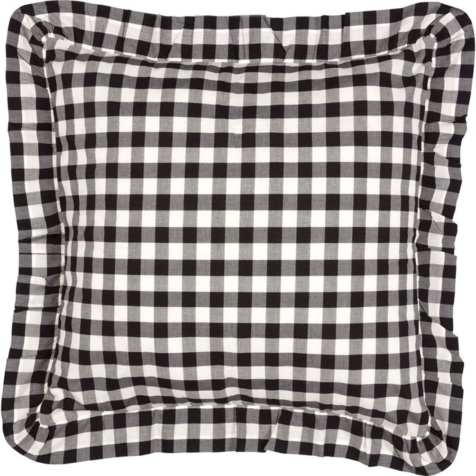 Annie Buffalo Black Check Fabric Euro Sham 26x26 Thumbnail