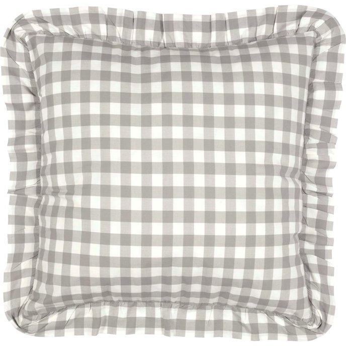 Annie Buffalo Grey Check Fabric Euro Sham 26x26 Thumbnail