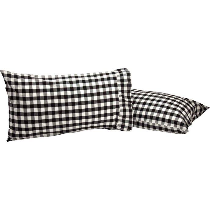 Annie Buffalo Black Check Standard Pillow Case Set of 2 21x30 Thumbnail