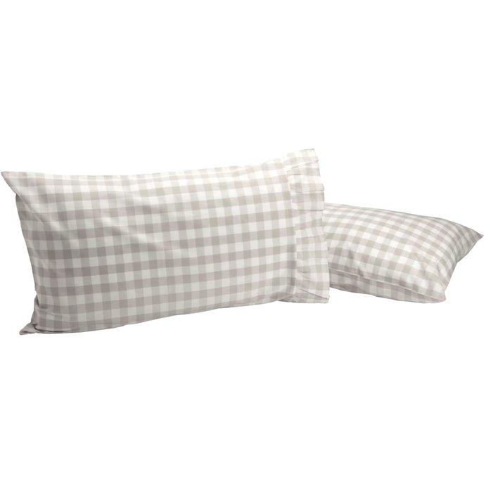Annie Buffalo Grey Check Standard Pillow Case Set of 2 21x30 Thumbnail