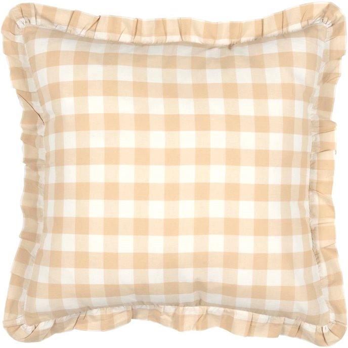 Annie Buffalo Tan Check Fabric Pillow 18x18 Thumbnail