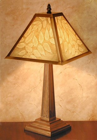 Leaves Mission Style Lamp by Porcelain Garden Thumbnail