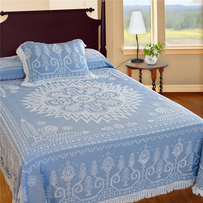 Spirit of America Bedspread Twin Blue Thumbnail