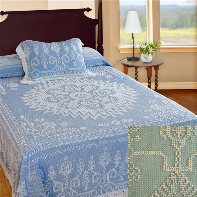 Spirit of America Bedspread Full Sage Thumbnail