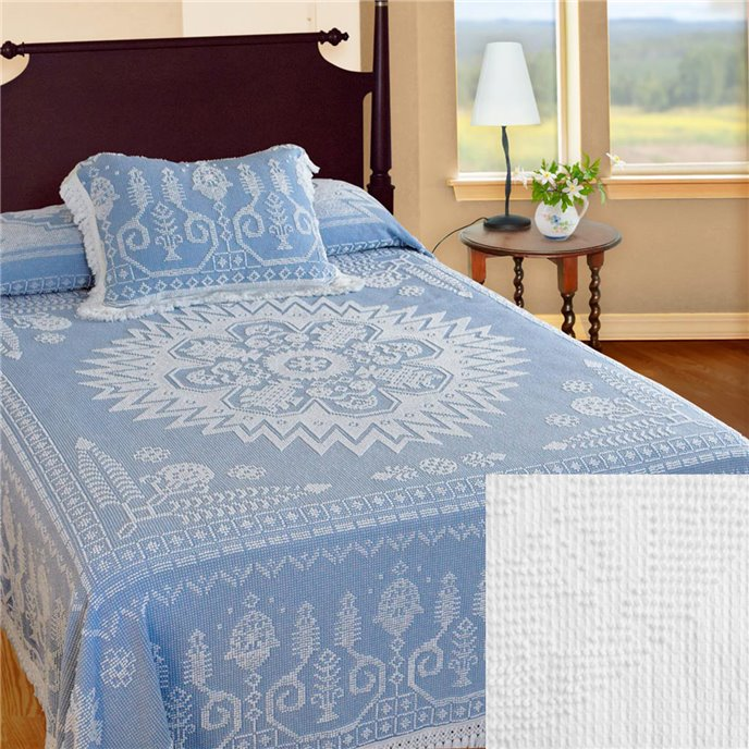Spirit of America Bedspread Queen White Thumbnail