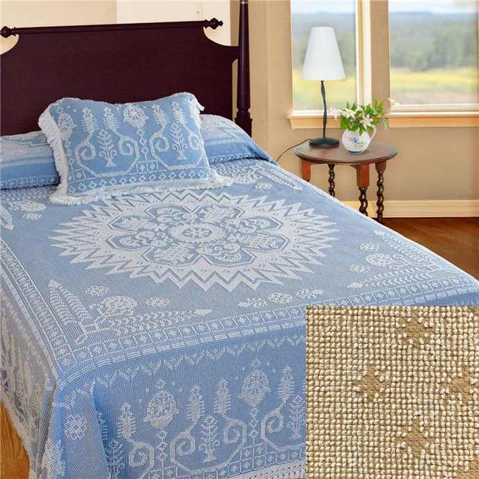Spirit of America Bedspread Queen Linen Thumbnail