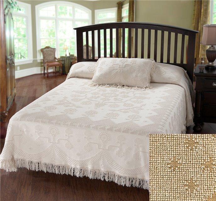 George Washington Bedspread Twin Linen Thumbnail