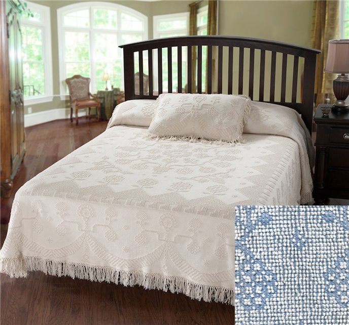 George Washington Bedspread Queen Blue Thumbnail