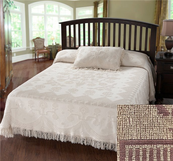 George Washington Bedspread King Maroon Thumbnail
