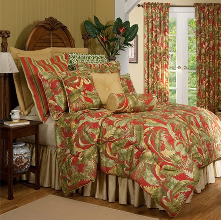 "Captiva Cal King Thomasville Comforter Set (15"" bedskirt) Thumbnail"
