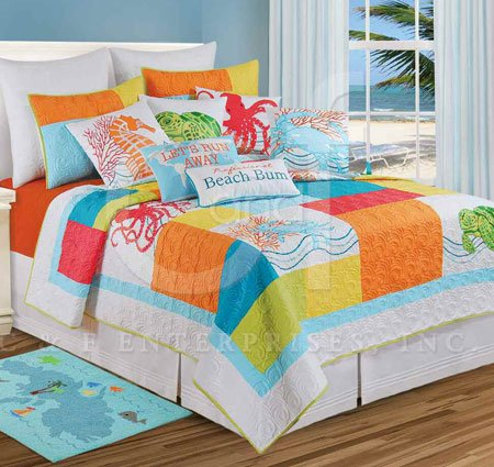 Tropic Escape Full Queen Quilt Thumbnail