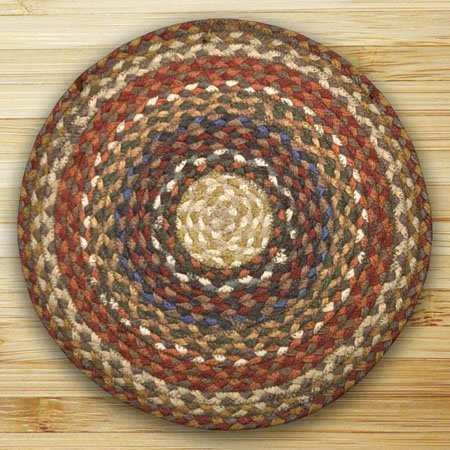 Honey, Vanilla & Ginger Round Braided Rug 5.75'x5.75' Thumbnail