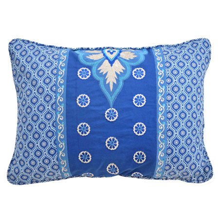 Waverly Moonlit Shadows Embroidered and Pieced Decorative Accessory Pillow Thumbnail