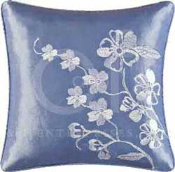 Mazarine Embroidered Square Pillow Thumbnail