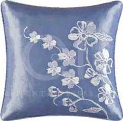 Mazarine Embroidered Square Pillow Thumbnail
