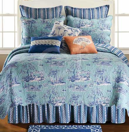 Hampstead Toile Full Queen Quilt Thumbnail