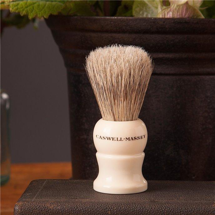 Caswell-Massey Mock Ivory Medium Boar & Badger Shave Brush Thumbnail