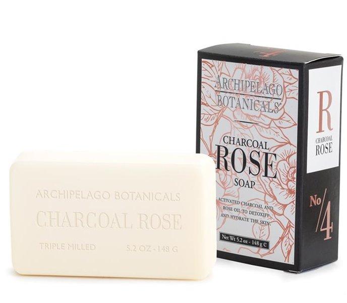 Archipelago Charcoal Rose Bar Soap Thumbnail