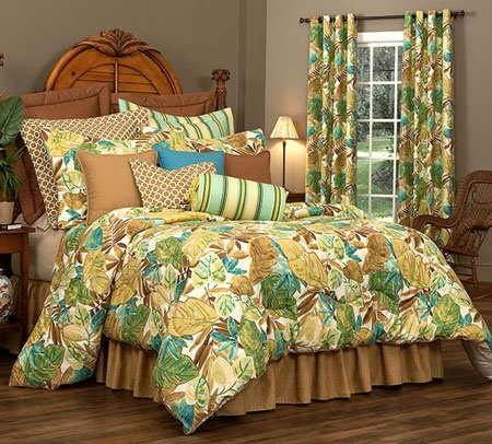 "Brunswick Cal King Thomasville Comforter Set (15"" bedskirt) Thumbnail"