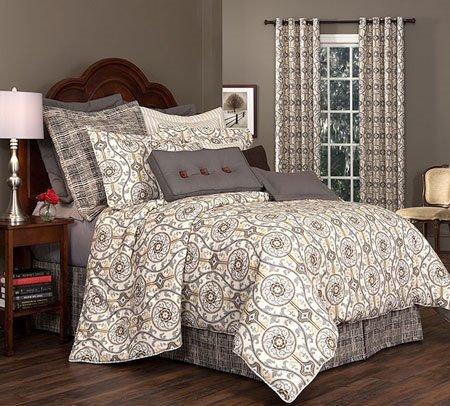 "Izmir Cal King Thomasville Comforter Set (15"" bedskirt) Thumbnail"