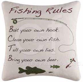 Gibson Lake Fishing Rules Pillow Thumbnail