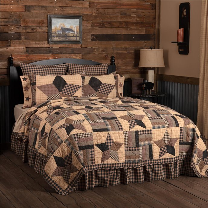Bingham Star Luxury King Quilt 120Wx105L Thumbnail